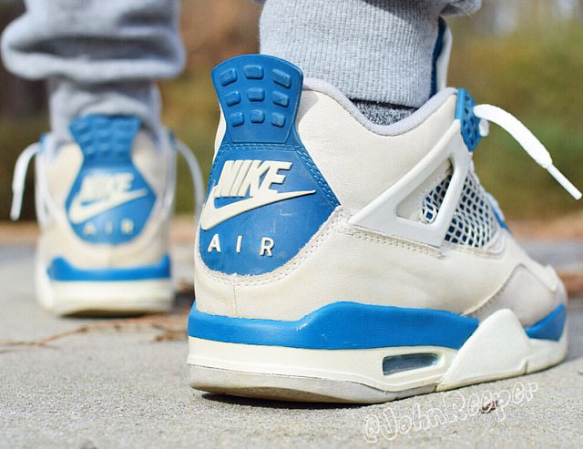 nike air jordan 4 military blue 1989 buick