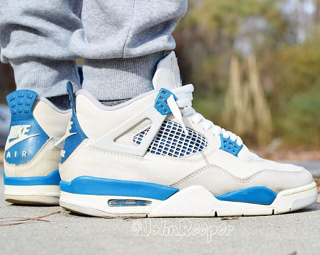 Air Jordan 4 Sortie Bleu Militaire excellent vente Footlocker Finishline VlJeT3