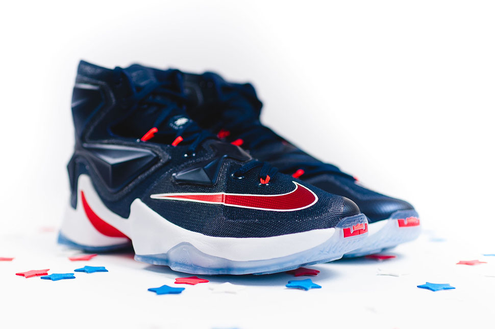 0e926f84d0f Nike LeBron 13 Midnight Navy Red White - Sneaker Bar Detroit