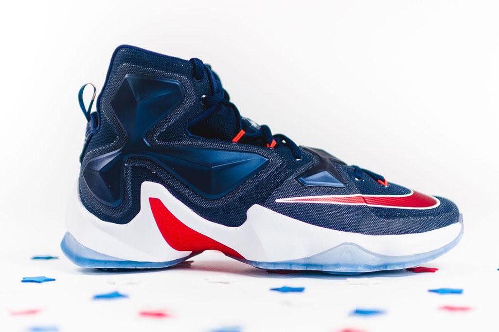 4fcab31e4a9d18 Nike LeBron 13 Midnight Navy Red White - Sneaker Bar Detroit