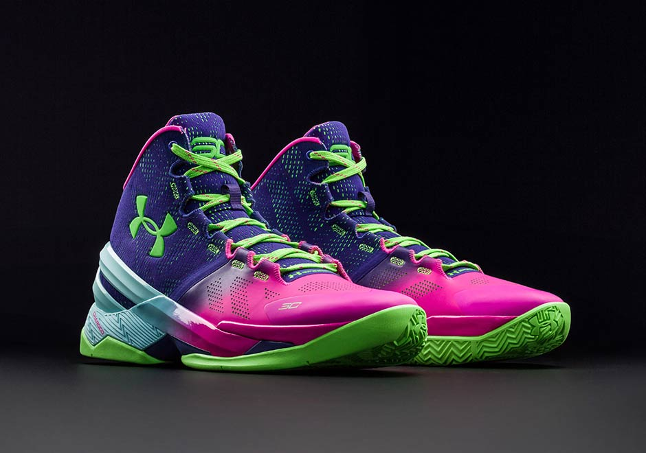 under armour curry 2 purple white