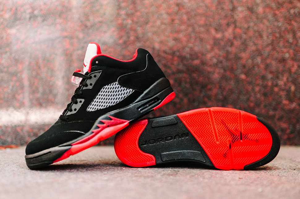 Air Jordan 5 Low Black Red Alternate