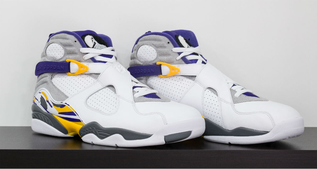 Air Jordan 8 Kobe Lakers White