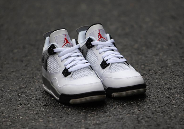 Kids Nike Air Jordan 4 OG White Cement Gradeschool GS
