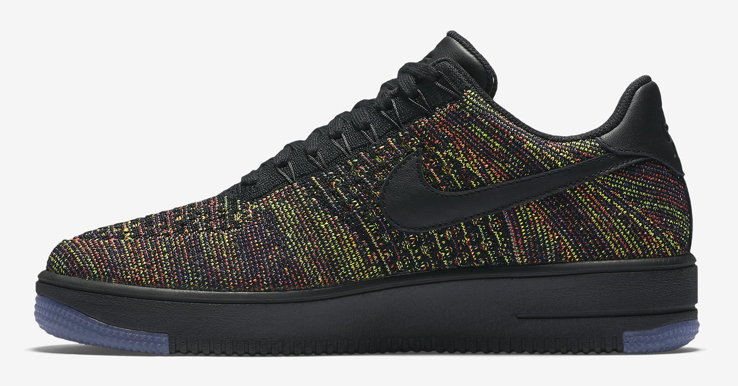 Nike Flyknit Air Force 1 Black Multicolor Release Date
