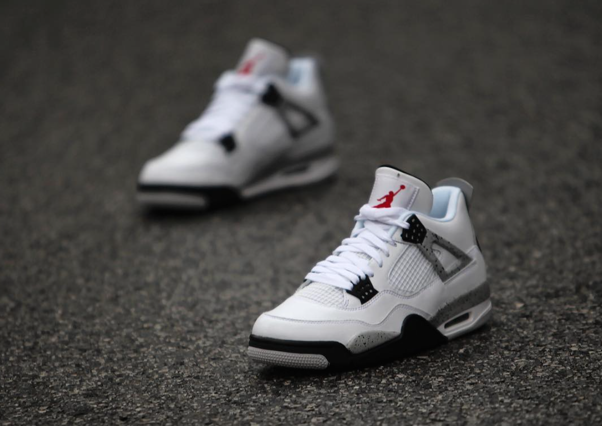 White Cement Air Jordan 4 OG Nike Air
