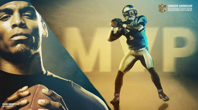 Cam Newton Gold MVP Under Armour Cleats