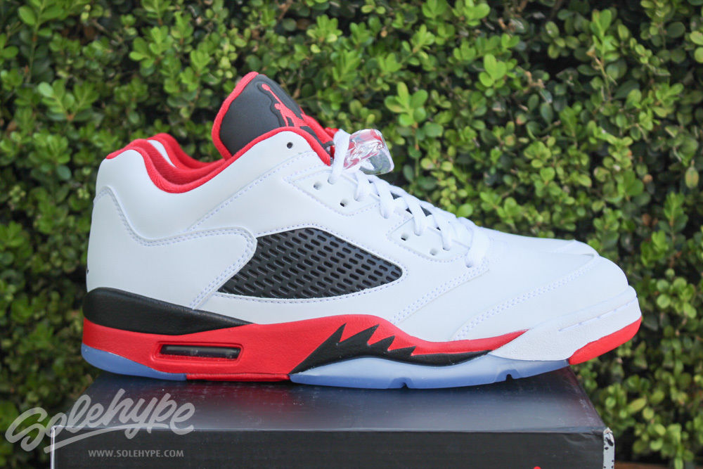 Fire Red Air Jordan 5 Low Available