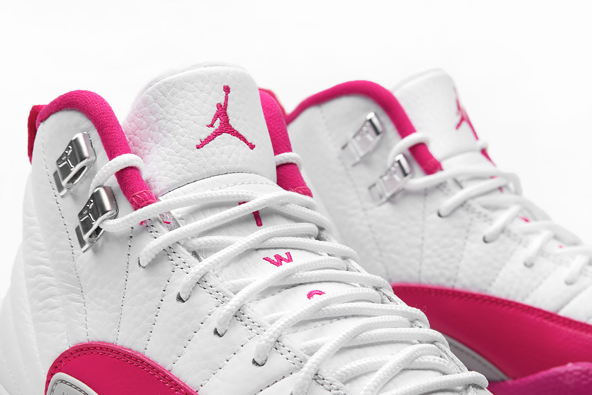 Girls Air Jordan 12 Pink White