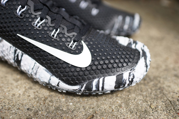 on sale c1891 63742 Nike Free Trainer 1 Black White Marble