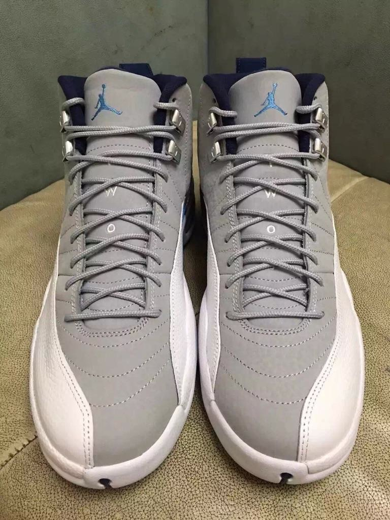 Air Jordan 12 Wolf Grey University Blue