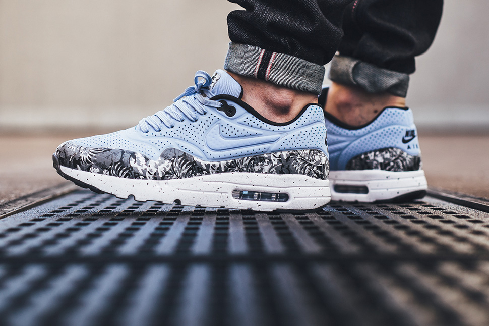 nike air max 1 ultra moire monochrome floral sneaker bar. Black Bedroom Furniture Sets. Home Design Ideas