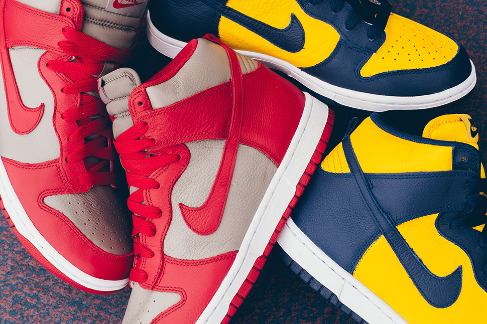 Nike Dunk High Michigan UNLV Release Dates - Sneaker Bar Detroit 5d5e6f56968e