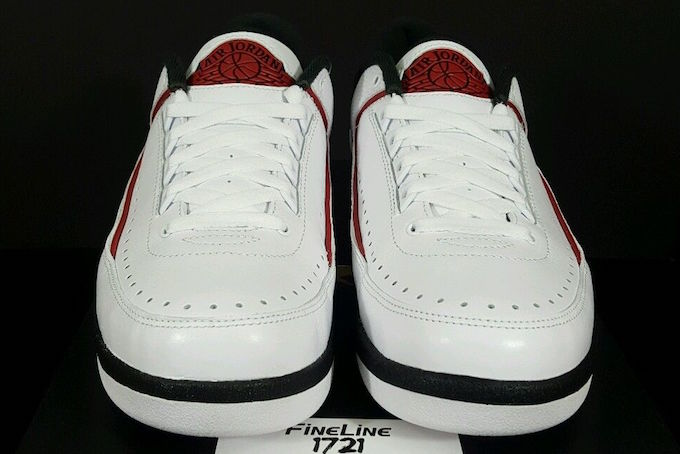 Chicago Air Jordan 2 Retro Low White Varsity Red Black