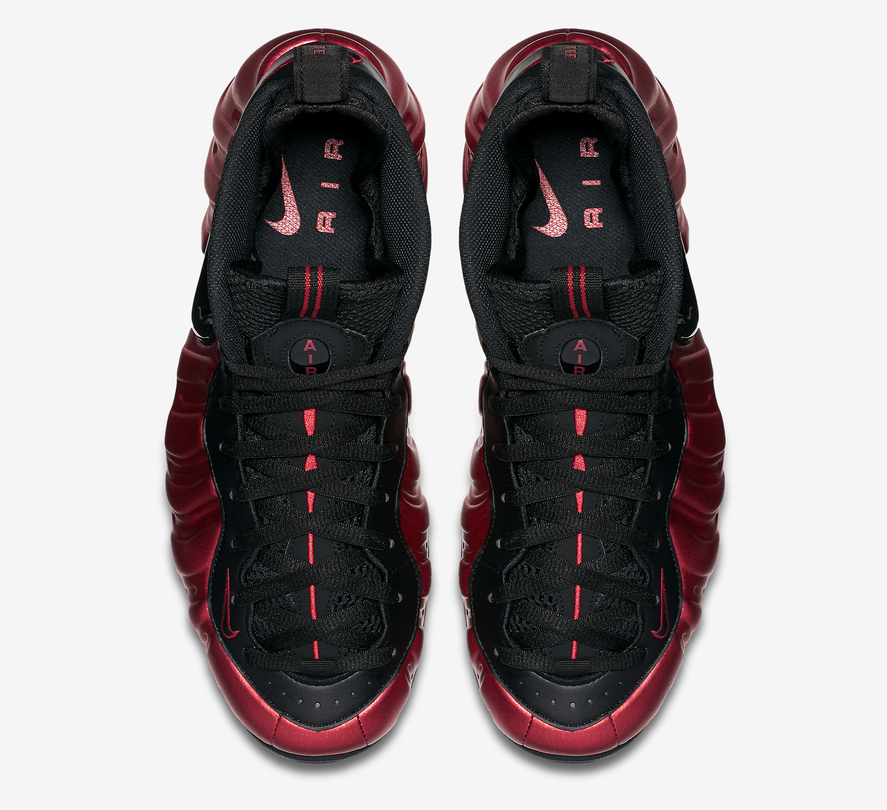 Nike Air Foamposite Pro University Red Black Official Look