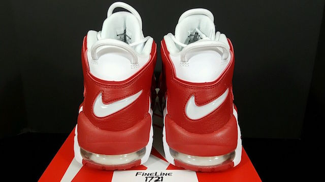 Bulls Nike Air More Uptempo White Gym Red 414962-100