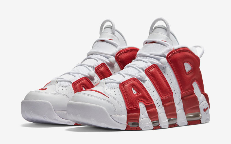 c9b8ea8a05eb Nike Air More Uptempo White Red - Sneaker Bar Detroit