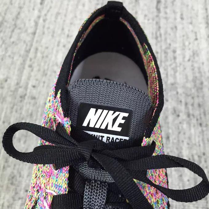 Nike Flyknit Racer Grey Tongue Multicolor 2016