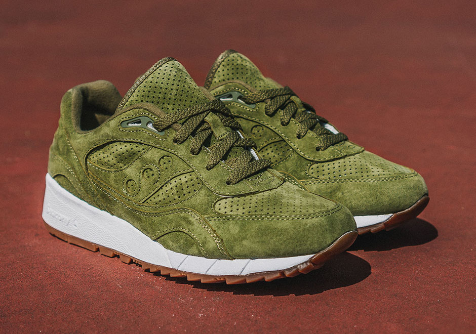 the latest d71f3 0cf36 Saucony Shadow 6000 Olive Suede - Sneaker Bar Detroit