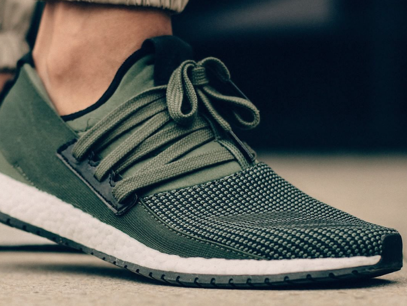 adidas Pure Boost Raw Green Olive