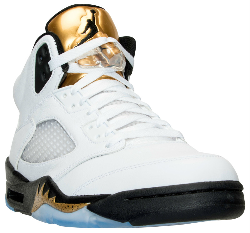 Air Jordan 5 Olympic Gold Medal Tongue