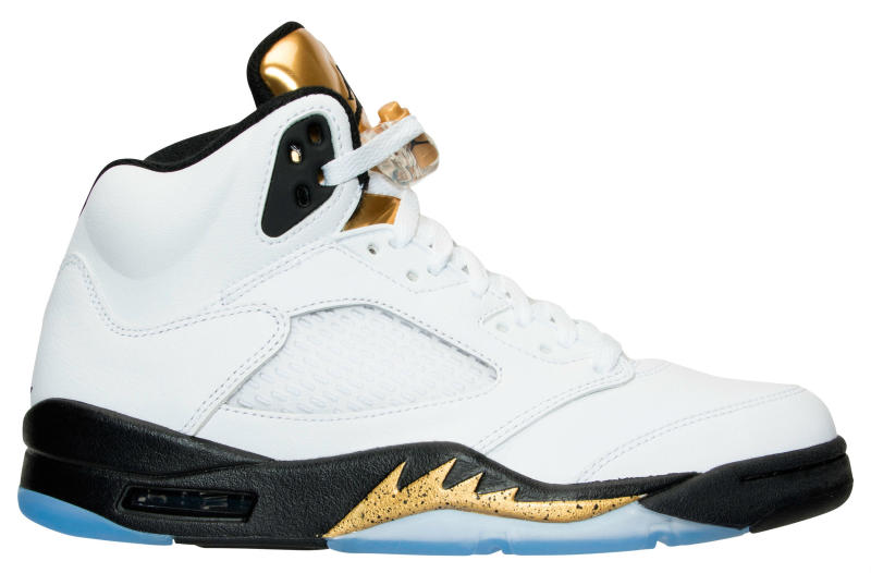 175251468e80 Air Jordan 5 Olympic White Black Gold Release Date - Sneaker Bar Detroit