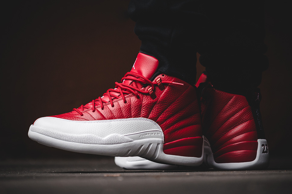 Air Jordan 12 Gym Red Alternate White Black