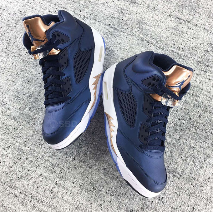 Jordan Retro 5 Blue And Bronze | The River City News