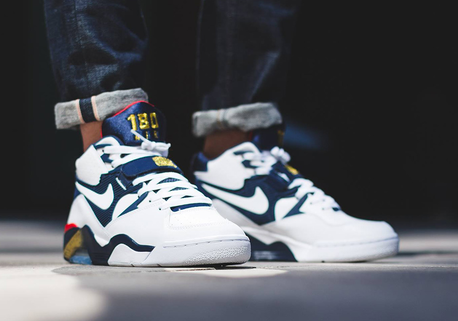 meet 57a6f e064a Nike Air Force 180 Olympic On-Feet