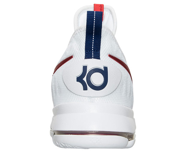 Nike KD 9 USA White Red Blue Olympic