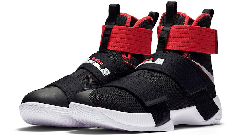 nike lebron soldier 10 black red