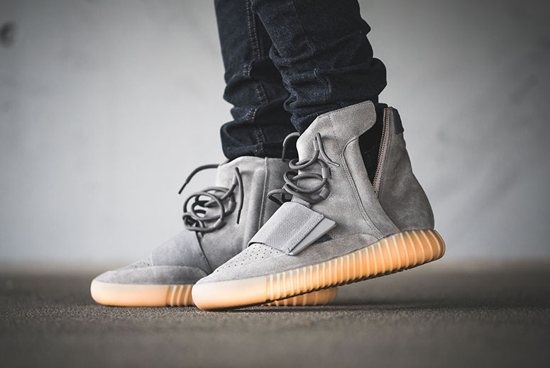 Yeezy Boost 750 Grey Gum On Feet