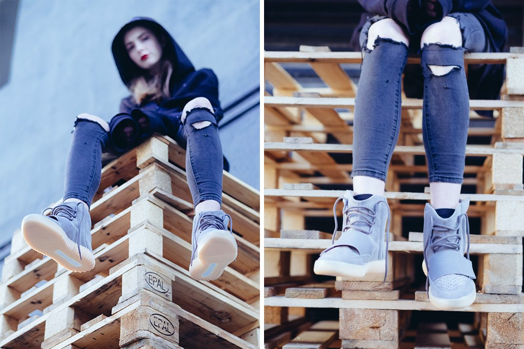 820f5e0917d ... Light Grey adidas Yeezy 750 Boost On-Feet . ...