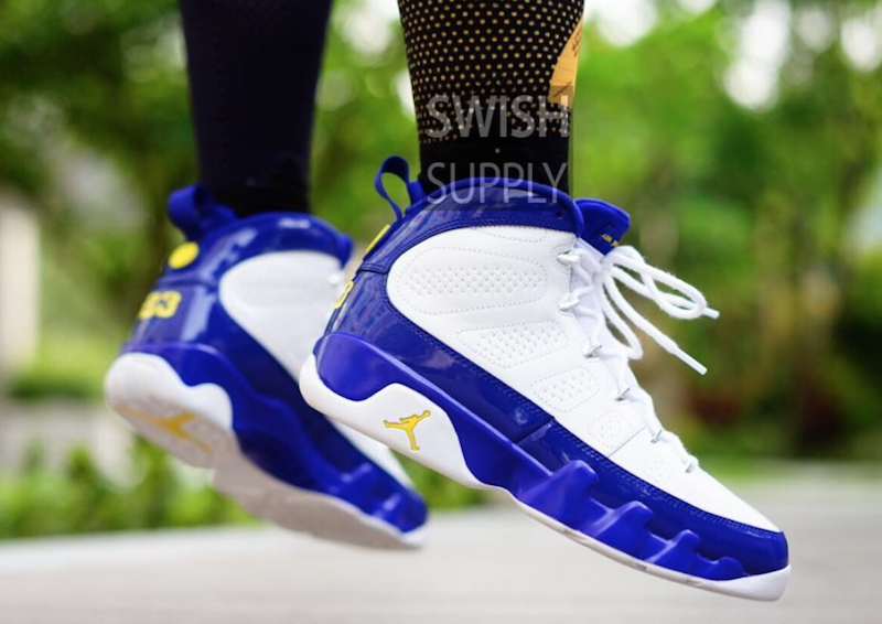Air Jordan 9 Kobe Bryant Lakers On-Feet