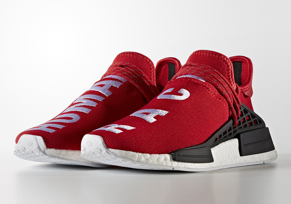 Pharrell adidas NMD Human Race Red