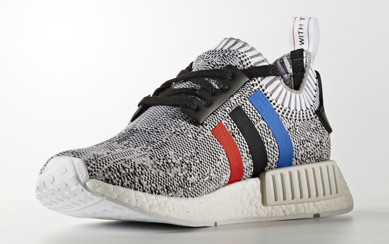 adidas NMD Primeknit Red White Blue Three Stripes