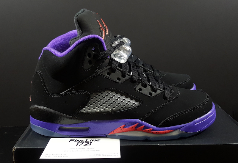 online store 0062e 249aa Air Jordan 5 GS Raptors Black Ember Glow Fierce Purple - SBD
