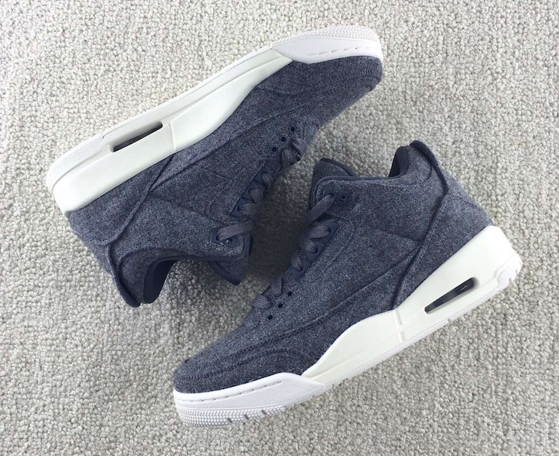 7b34efdad92b92 Air Jordan 3 Wool Dark Grey Release Date - Sneaker Bar Detroit