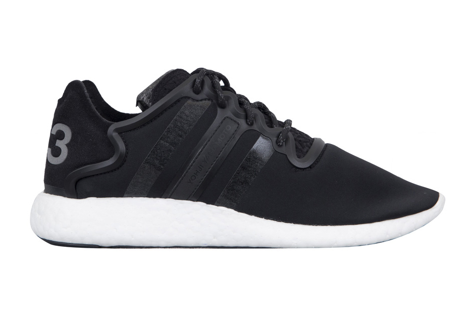 detailed look 05e76 6d126 adidas Y-3 Yohji Run Boost Black White