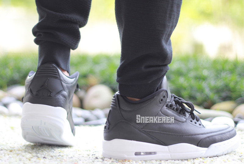 Air Jordan 3 Black White Cyber Monday On-Feet