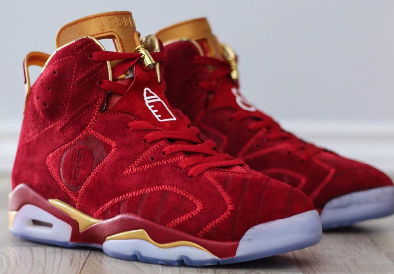c4169d13b682f3 Air Jordan 6 Blood Red Doernbecher Custom - Sneaker Bar Detroit