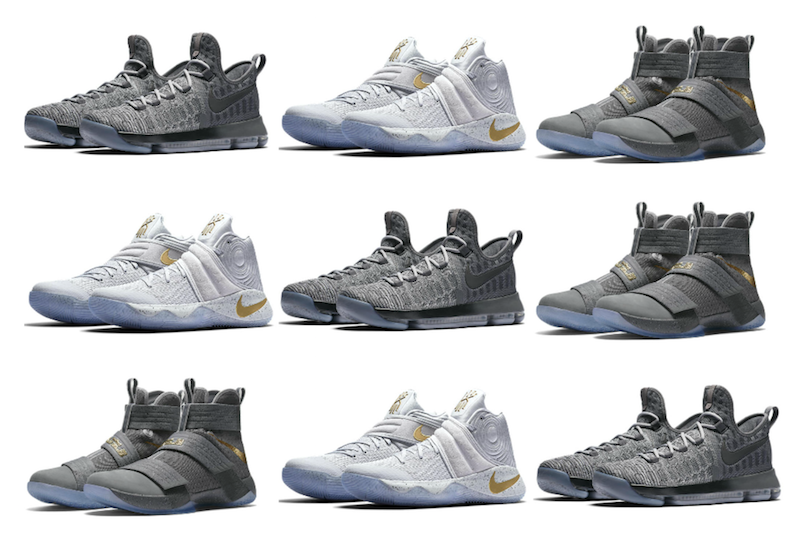 c41f75b39cf9 The Nike Basketball Battle Grey Collection includes the Nike Kyrie 2 ...