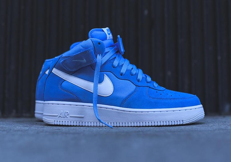nike air force 1 mid white and blue