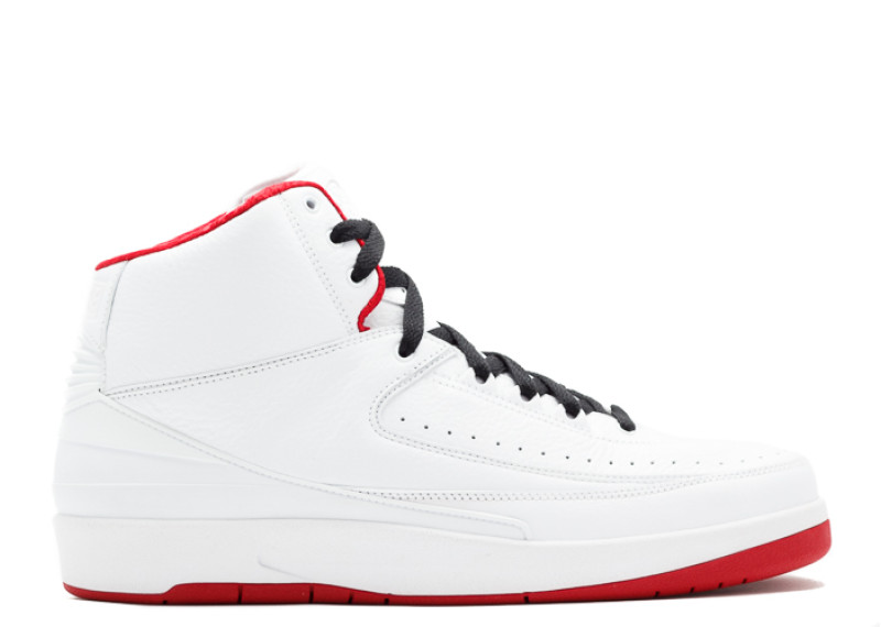 "on sale 056da 85c47 Air Jordan 2 Retro ""History Of Flight"" White, Varsity Red-Black"