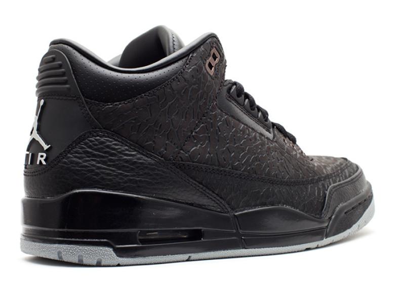 """1e1387762 ... Air Jordan Retro 3 """"Flip"""" Colorway BlackMetallic Silver Style Code  315767-001."""