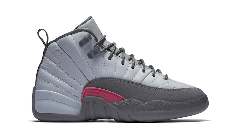 Air Jordan 12 GS Wolf Grey Vivid Pink
