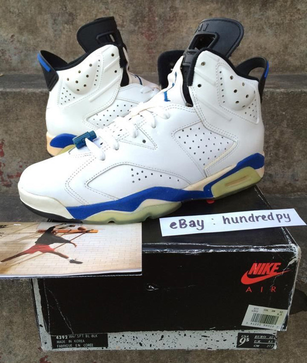 official photos 19a21 eefb9 Nike Air Jordan 6 Sport Blue OG 1991 - Sneaker Bar Detroit
