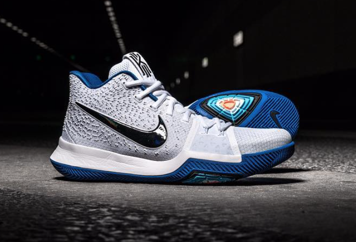 Nike Kyrie 3 White Blue Black