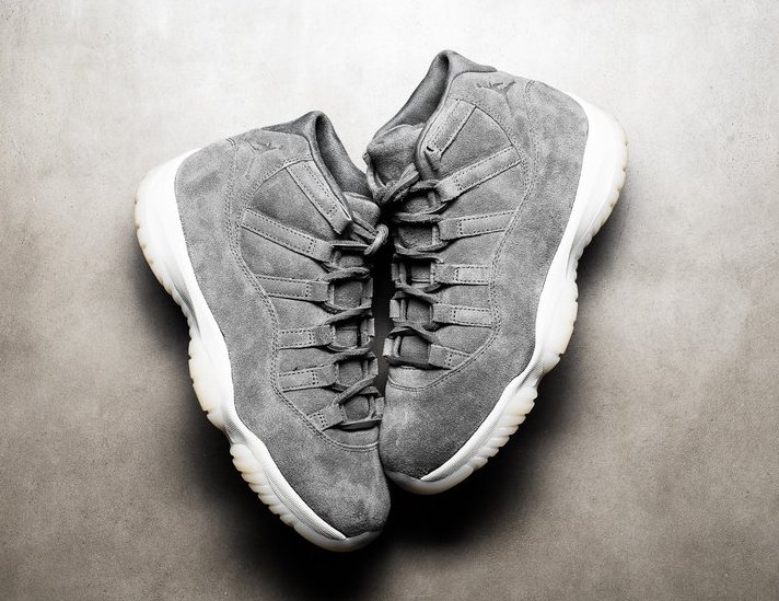 Air Jordan 11 Premium Cool Grey Suede