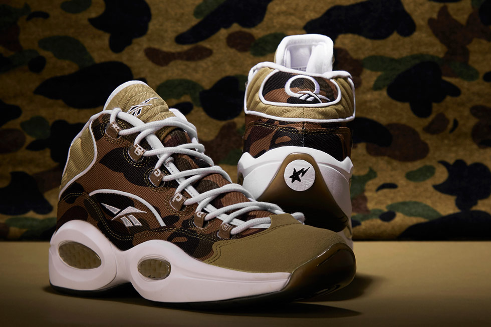 BAPE x mita sneakers x Reebok Question 1st Camo